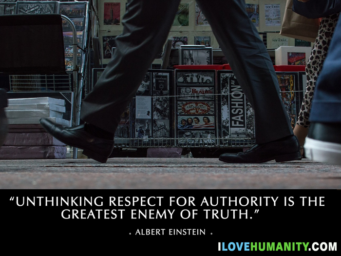 Unthinking respect for authority is the greatest enemy of truth. — Albert Einstein